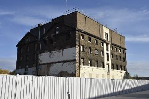The former Whitworth Mill building at Fletton Quays