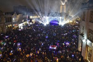 The lights turned on in Cathedral Square