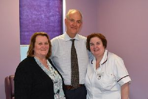 Jane Harris, Dr Bruno Millet and Michelle Harris