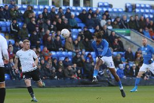 Ivan Toney lets fly with his stunning volleyed goal against Dover on Sunday (Pictures: Joe Dent)