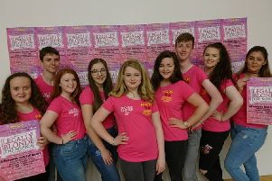 Some of the Moyraverty cast at the Legally Blonde ticket launch.