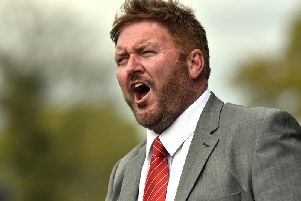 Portadown manager, Niall Currie was far from happy with his side's display at Limavady but the draw secured the Shamrock Park club's place in the top six of the Bluefin Championship One.