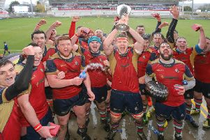 Ballyclare with the Towns' Cup