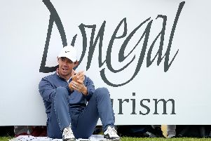 Rory McIlroy waits on the 10tjh teebox