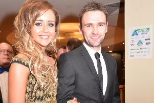 William Dunlop with his partner, Janine Brolly.