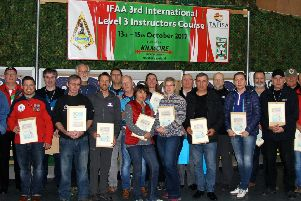 The IFAA Level 3 Instructor Course, held at Kilmore archery Centre in October last year.