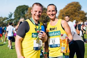 Nikki and Brian Graham, Nikki will be running in four half marathons aiming to raise money for Tearfund.