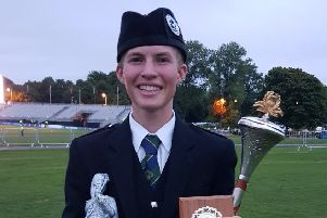 Jamie Cupples from Richhill was crowned Juvenile Drum Major World Champion and Scottish Champion of Champion at the recent World Championships in Glasgow.