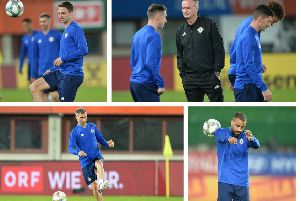 NI versus Austria in Vienna: 50+ images ahead of the match