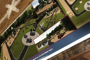 Image of plans for the new Tannaghmore Gardens play area