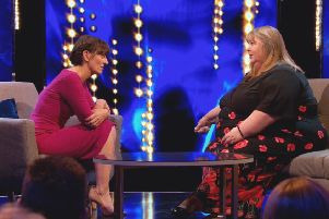 This image is strictly embargoed from publication until 00.01 Tuesday 29th January 2019''From Twofour Production''This Time Next Year: SR3: Ep1 on ITV ''Pictured: Host Davina McCall and contestant Tracey.''This photograph is (C) ITV Plc and can only be reproduced for editorial purposes directly in connection with the programme or event mentioned above, or ITV plc. Once made available by ITV plc Picture Desk, this photograph can be reproduced once only up until the transmission [TX] date and no reproduction fee will be charged. Any subsequent usage may incur a fee. This photograph must not be manipulated [excluding basic cropping] in a manner which alters the visual appearance of the person photographed deemed detrimental or inappropriate by ITV plc Picture Desk. This photograph must not be syndicated to any other company, publication or website, or permanently archived, without the express written permission of ITV Plc Picture Desk. Full Terms and conditions are available on the website www.itv.com/presscentr