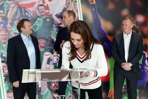 The Duke & Duchess of Cambridge visit the National Stadium Belfast, home of the Irish Football Association