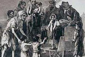 A harrowing depiction of the Irish Famine from the time.