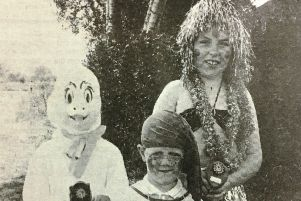 The winners of the fancy dress competition at the Drumcree Festival in 1988 were Fintan Kelly, Gareth Breen, and Sharon Beattie