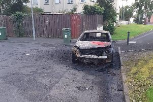 Car burnt out