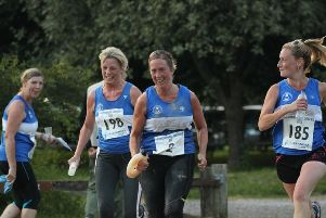Ladies from Portsmouth Joggers running in the 2014 Summer XC. Picture: Penny Johnstone