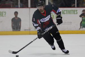 Andrew Magee announced his return to the Solent Devils by scoring against Cardiff. Picture: Reece Gough