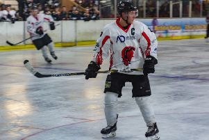 Alex Cole on the ice against Chelmsford. Picture: Lisa Webb