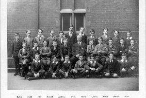 A Portsmouth Grammar School class in 1914, the year the First World War started