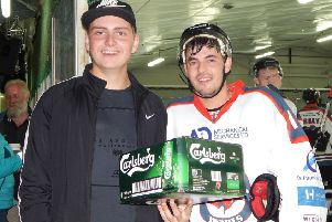 Matt Lawday, right, was man of the match for Solent Devils against Basingstoke