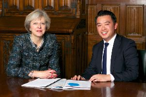 Alan Mak MP poses with Prime Minister Theresa May