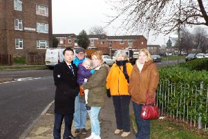 Alan Mak MP, left, has been campaigning for better road safety in the area