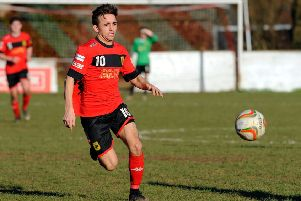 Billy Connor in action for Petersfield Town  Picture: Malcolm Wells