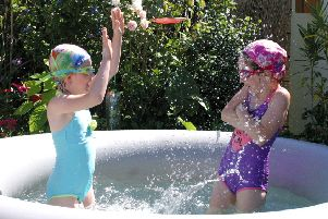 Last year's runner-up was this pic of Chrissy Williams' six-year-old twin grandaughters in her spa