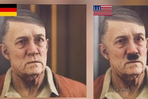 WATCH: Makers of a new Nazi game censor Hitler for the German release - by removing his moustache!