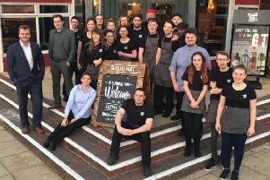 Staff at The Cocked Hat pub in Gosport