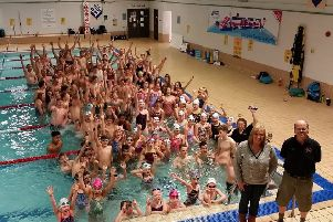 Havant & Waterlooville swimming club raised money with their channel challenge. Picture: Jonathan Stock