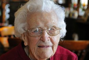 Marjorie Smith celebrated her 100th birthday at The Maypole, Hayling Island. Picture: Malcolm Wells (180219)