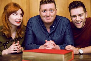 The podcast's hosts, Alice Levine, Jamie Morton and James Cooper