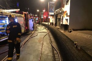 Fire crews dealt with a blaze at Astoria nightclub on Guildhall Walk. Picture: Southsea Fire Station