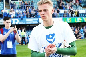Pompey youngster Alex Bass made his league debut against Peterborough on Saturday