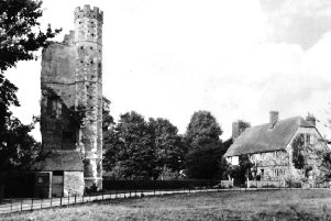 Although not a castle in the proper sense, more a manor house, here we see Warblington Castle, east of  Havant