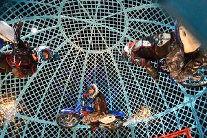WATCH: Death-defying motorcyclists show off skills as Cirque Berserk! comes to Portsmouth