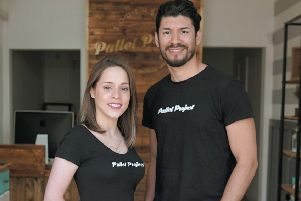Mariangela Romero and Jorge Luna of the Pallet Project