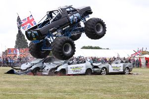 Monster truck 'Grim Reaper' in action at the HMS Sultan Summer Show. Thousands of visitors enjoyed an exciting Father's Day weekend recently at the HMS Sultan Summer Show 2018.  The not-for-profit Show was jam-packed with high quality Arena Entertainment including Monster Trucks, a Steam Fayre and motorcycle displays with the Royal Naval Volunteer Cadet Corps Field Gun and the HMS Sultan Volunteer Band ensuring the Show was in keeping with the best of Naval Traditions.  Outside of the Main Arena an enormous funfair, a free Fun and Games Arena, petting zoo, static airframe displays, creepy crawlies, craft and chairties tents, classic cars and a Georgian Gun Deck Experience based around the Battle of Trafalgar kept visitors entertained. In addition, guests were also given the opportunity to book their own ride on the 'Red Dragon; Moster Ride Truck.  On top of everythinng else on offer 2018 marks 'The Year of Engineering', a year long cross-government campaign. Picture: PO Phot Nicola Harper.