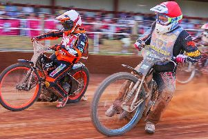 Jack Thomas and Scott Campos battle it out Picture: Ian Groves