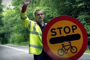 Portsmouth North End's Alan Collins, who is one of British Cycling's accredited marshals