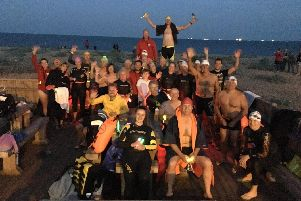 Revellers at the debut Full Moon Night Swim in June