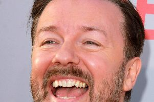 Alfie's appeal joy: Ricky Gervais speaks up for animals which cannot