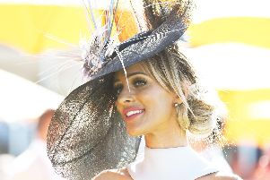 Katie Houghton came from Ascot to Goodwood on Ladies Day. Picture: Malcolm Wells