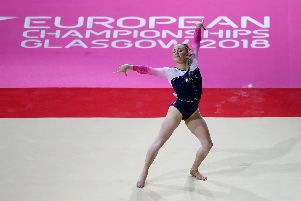 Kelly Simm competing in the European Championships. Picture: Jane Barlow/PA