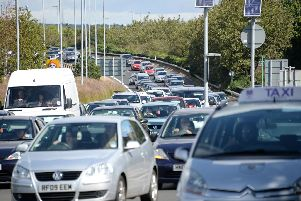 Traffic on the M275. Picture: Paul Jacobs