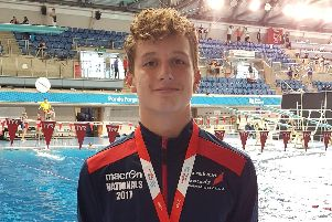 Joe Davies won a bronze medal at a national competition in Sheffield