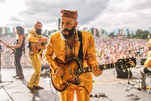 The Turbans on stage at Wilderness Festival. Picture by Danny North.