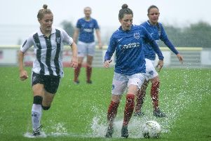 Ellie Kirby in control for Pompey Ladies during the victory against Gillingham. Picture: Jordan Hampton