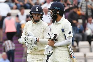 Sam Curran, left, and Moeen Ali. Picture: Neil Marshall